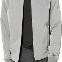 Theory Mens Jacket Gloomy Gray Size Small S Full Zip Flight/bomber 595 157 Photo