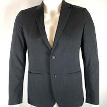 Theory Mens Kris Blazer Jacket Charcoal Gray Wool Blend Size 38 Photo