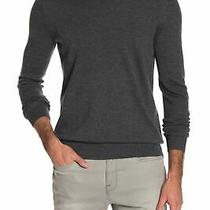 Theory Mens Sweater Charcoal Gray Size Xl Pullover v-Neck Riland Wool 285- 182 Photo
