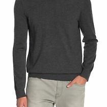 Theory Mens Sweater Gray Size Small S Harman Rinland Crewneck Wool 285 053 Photo