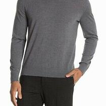 Theory Mens Sweater Gray Size Xl Riland Leden Luxe v-Neck Knit Wool 225 261 Photo