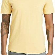 Theory Mens T-Shirt Husk Yellow Size Xl Essential Cosmos Slub Tee 95 249 Photo