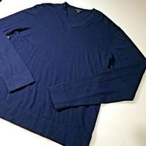 Theory Mens v Neck Xtra Large Sweater Blue New Photo