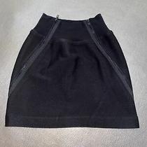 Theory Mini Skirt Wool Blend Elastic Waist Size 4 Photo