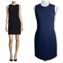 Theory Navy Blue Rosanelle Sheath Dress Womens Sz 8 Photo