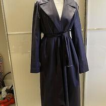 Theory Navy Blue Soft Classy Trench Coat Brand New Size 6-8 Uk Photo