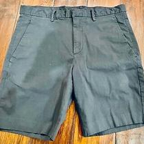 Theory Navy Stretch Chino Shorts 29  Photo