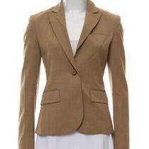 Theory New Auth 525 Women's Caramel Brown Peak-Lapel Blazer Size 2 Photo