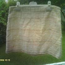 Theory New Light Yellow Basketweave Mini Skirt- Size 10 Photo