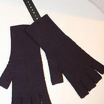Theory New Nwt Purple Gloves Fingerless Sample Photo