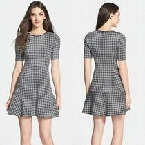 Theory 'Nikay' Houndstooth Woven a-Line Dress  ( Size 8   ) Photo
