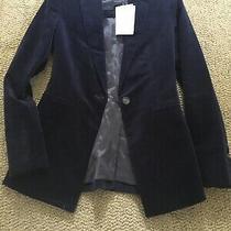 Theory Nwt Gorgeous Deep Navy Blue Blazer Size 00 495 Xs Photo