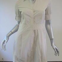 Theory Off-White Silvana - Sheets Shirtdress 6 Photo