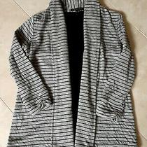 Theory Open Front Cardigan Gray/black Size Small Guc Photo