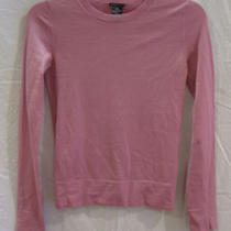 Theory Pink Salmon Wool Long Sleeved Top Blouse Sp Photo