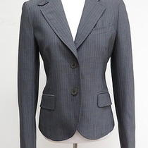 Theory Pinstripe 2 Button Blazer Gray Size 2 Gently Worn Photo