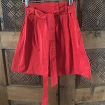 Theory Red Sz 2 Short Skirt Self Belt Photo