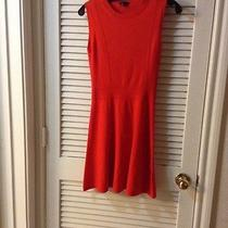 Theory Red Wool Dress Photo