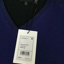 Theory Rothley v Admiral Multi Mens v-Neck Large Sweater Blue Nwt Clearance Photo