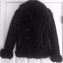 Theory Shearling Leather Jacket Bloomingdales S Black Photo
