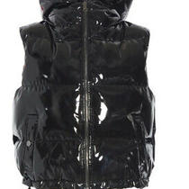 Theory Shrunken Puffer Vest With Hood Patent Black - Brand New With Tags Photo