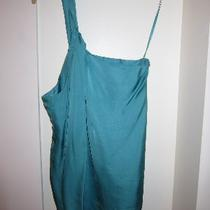 Theory - Silk One Sleeve Teal Blouse - Petite Photo