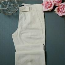 Theory Size 10 Yellow Pin Striped Flare Pants  Photo