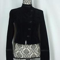 Theory Size 2 Black Velvet Military Jacket Photo