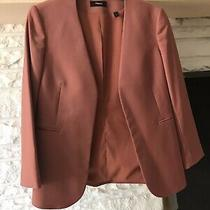 Theory Size 2 Dark Salmon Open Front Blazer Photo