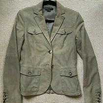 Theory Size 6 Olive Green 96% Wool Jacket Blazer Photo