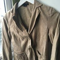 Theory Size 8 Beige Suede Jacket (V12) Photo