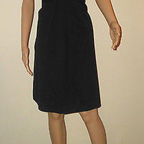Theory Size 8 Solid Black Lined Dress Photo