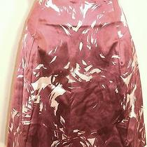 Theory  Skirt  Size 6 Purple Short Skirt Photo