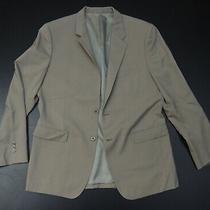 Theory Soild Tan Wool/lycra Designer Mens 2 Button Blazer Size 44r Photo