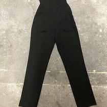 Theory Strapless Jumpsuit Tux Wool Black Size 4 Photo