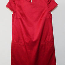 Theory Striking Shimmering Cherry Red Dress - 0 Photo