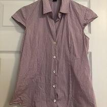 Theory Striped Button Up Top Small Photo