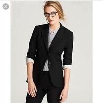 Theory Striped Cuff Black Blazer Size 00 Photo