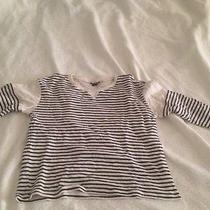 Theory Striped Light Sweater Photo