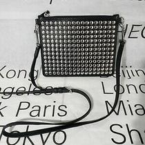 Theory Studded Transformer Pouch Black Nappa Leather Messenger Bag Photo