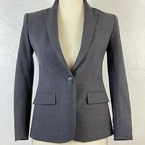 Theory Sz 00 Gabe 2 Urban Charcoal Grey One-Button Wool Bi-Stretch Blazer Jacket Photo