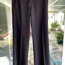 Theory sz.4 Black Stretch Wool-Flare Bottom-Black Pants Photo