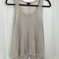 Theory Vest Tank Top T-Shirt Size S Beige / Natural Navy Spotted Modal  Wool Photo