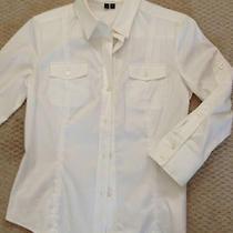 Theory White Dress Shirt Size M  Photo