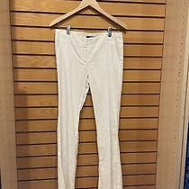 Theory White Linen Pants Photo
