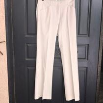 Theory White Polished Cotton Dress Pants / Trousers Size 0 - Xs Photo