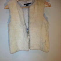Theory White Rabbit Fur Vest Sz S Photo