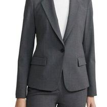 Theory Women Blazer Charcoal Gray Size 6 Wool Single-Button Notch-Lapel 425 141 Photo