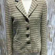 Theory Women Blazer Size 2 Beige Multi Wool Angora Cashgora B09 Photo