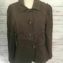 Theory Women Blazer Size 6 Brown Long Sleeve B80 Photo